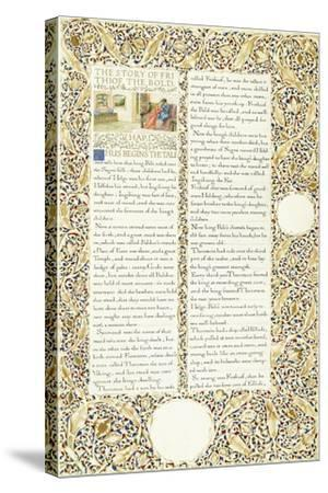 Calligraphic and Illuminated Manuscript, C.1871-1873 (Inks and Paint on Paper)-William Morris-Stretched Canvas Print