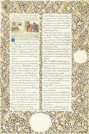 Calligraphic and Illuminated Manuscript, C.1871-1873 (Inks and Paint on Paper)-William Morris-Giclee Print