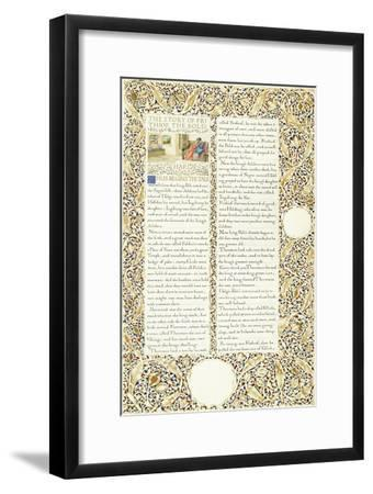 Calligraphic and Illuminated Manuscript, C.1871-1873 (Inks and Paint on Paper)-William Morris-Framed Giclee Print