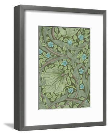 William Morris Wallpaper Sample with Forget-Me-Nots, C.1870-William Morris-Framed Premium Giclee Print