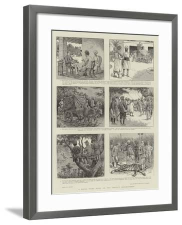 A Royal Tiger Hunt, Or, the Perfect Arrangement-William Ralston-Framed Giclee Print