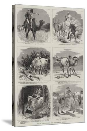 Buck-Shooting in Guzerat, India-William Ralston-Stretched Canvas Print
