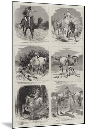 Buck-Shooting in Guzerat, India-William Ralston-Mounted Giclee Print