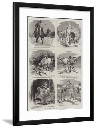 Buck-Shooting in Guzerat, India-William Ralston-Framed Giclee Print
