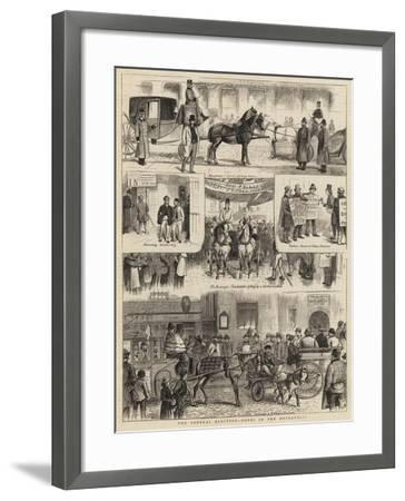 The General Election, Notes in the Metropolis-William Ralston-Framed Giclee Print