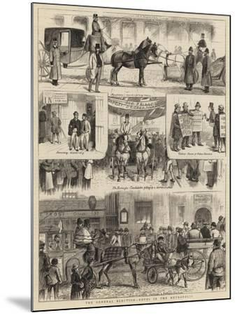 The General Election, Notes in the Metropolis-William Ralston-Mounted Giclee Print