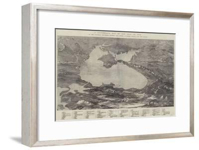 A Picturesque Map of the Seat of War--Framed Giclee Print