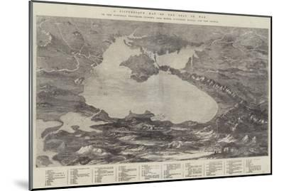 A Picturesque Map of the Seat of War--Mounted Giclee Print