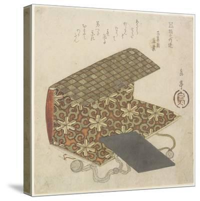 Patterned Folder for Horinouchi Circle, Mid 19th Century-Yashima Gakutei-Stretched Canvas Print
