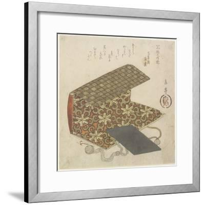 Patterned Folder for Horinouchi Circle, Mid 19th Century-Yashima Gakutei-Framed Giclee Print
