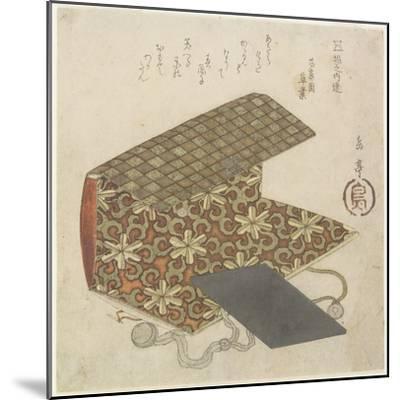 Patterned Folder for Horinouchi Circle, Mid 19th Century-Yashima Gakutei-Mounted Giclee Print