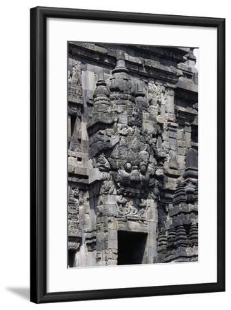 Access Door with Stone Decorations in One of Temples of Prambanan Temple Compounds (Unesco World He--Framed Giclee Print