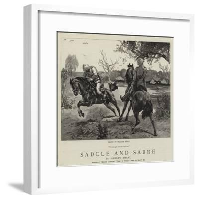 Saddle and Sabre-William Small-Framed Giclee Print