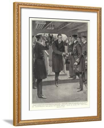 Mr Chamberlain's Departure for South Africa, Going on Board the Good Hope-William T^ Maud-Framed Giclee Print