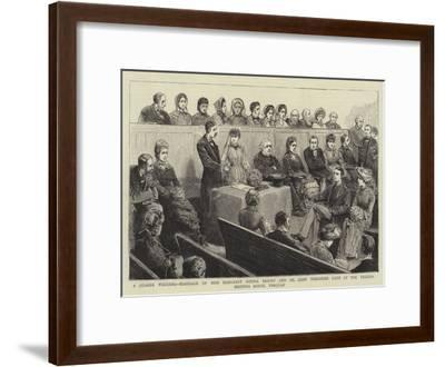 A Quaker Wedding--Framed Giclee Print
