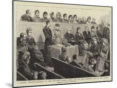 A Quaker Wedding--Mounted Giclee Print