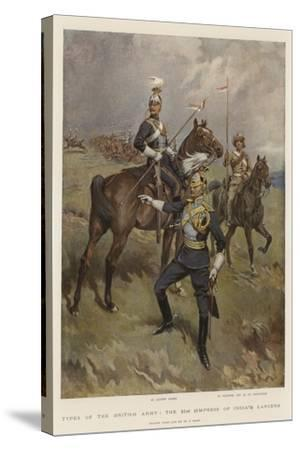 Types of the British Army, the 21st (Empress of India's) Lancers-William T^ Maud-Stretched Canvas Print