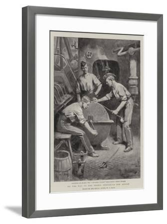 On the Way to the Front, Preparing for Action-William T^ Maud-Framed Giclee Print