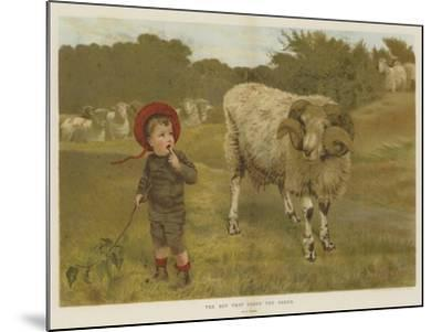 The Boy That Drove the Sheep-William Weekes-Mounted Giclee Print