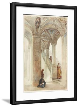 The Staircase of a Palace-William Wood Deane-Framed Giclee Print