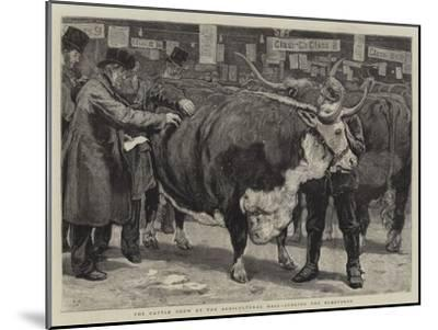The Cattle Show at the Agricultural Hall, Judging the Herefords-William Small-Mounted Giclee Print