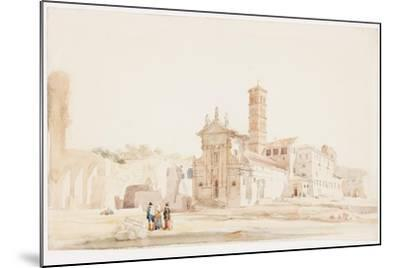In the Forum, Rome-William Wood Deane-Mounted Giclee Print