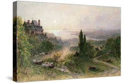 Landscape with a Large House-William Wyld-Stretched Canvas Print