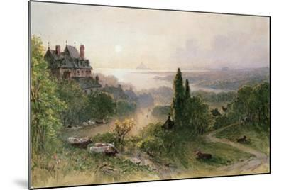 Landscape with a Large House-William Wyld-Mounted Giclee Print