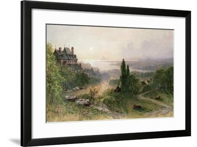 Landscape with a Large House-William Wyld-Framed Giclee Print