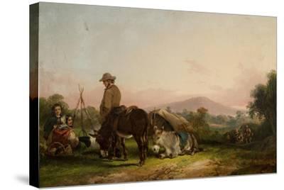 Gypsy Encampment-William Snr. Shayer-Stretched Canvas Print