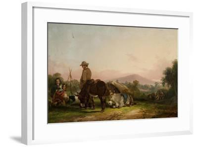 Gypsy Encampment-William Snr. Shayer-Framed Giclee Print
