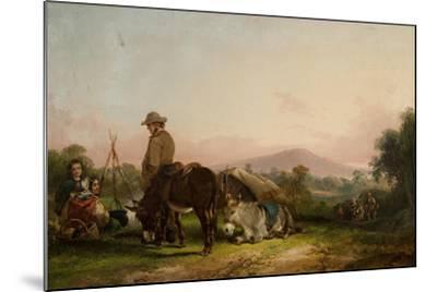 Gypsy Encampment-William Snr. Shayer-Mounted Giclee Print
