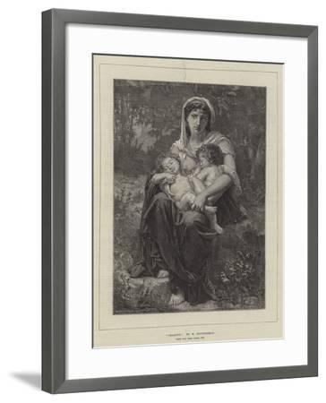 Charity, from the Paris Salon, 1874-William-Adolphe Bouguereau-Framed Giclee Print
