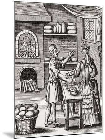 A 16th Century Baker's Shop. from Illustrierte Sittengeschichte Vom Mittelalter Bis Zur Gegenwart b--Mounted Giclee Print