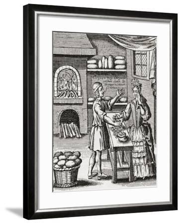 A 16th Century Baker's Shop. from Illustrierte Sittengeschichte Vom Mittelalter Bis Zur Gegenwart b--Framed Giclee Print