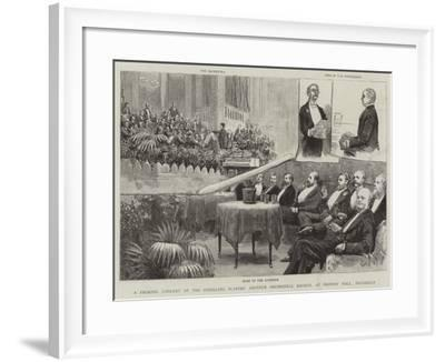 A Smoking Concert of the Strolling Players' Amateur Orchestral Society--Framed Giclee Print