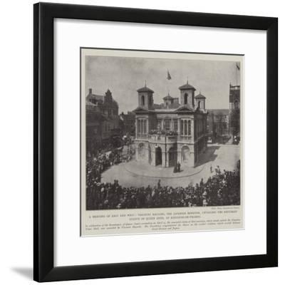 A Meeting of East and West--Framed Giclee Print