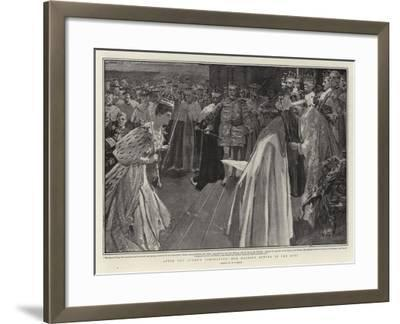 After the Queen's Coronation, Her Majesty Bowing to the King-William T^ Maud-Framed Giclee Print