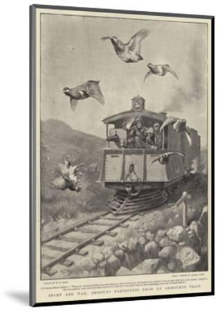 Sport and War, Shooting Partridges from an Armoured Train-William T^ Maud-Mounted Giclee Print