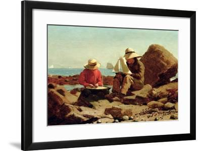 The Boat Builders, 1873-Winslow Homer-Framed Giclee Print