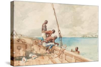 The Conch Divers, 1885-Winslow Homer-Stretched Canvas Print