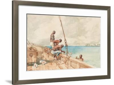 The Conch Divers, 1885-Winslow Homer-Framed Giclee Print