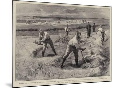 A Coveted Privilege, Convict Gangs Haymaking-William Small-Mounted Giclee Print
