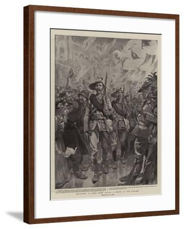Brothers in Arms Meet Again, a Scene in the Strand-William T^ Maud-Framed Giclee Print
