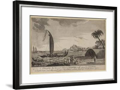 A View of the New Discovered Island of Ulietea--Framed Giclee Print