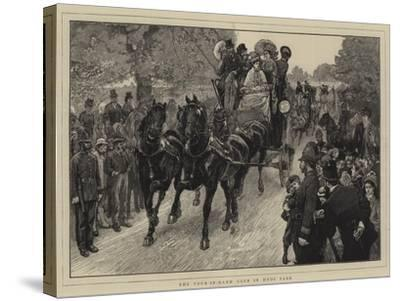 The Four-In-Hand Club in Hyde Park-William Small-Stretched Canvas Print