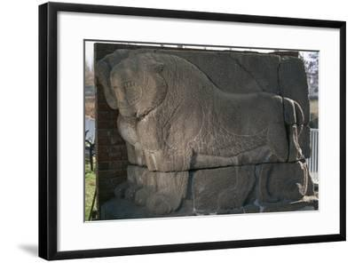 Bas-Relief with Lions from Kultepe (Kanesh)--Framed Photographic Print