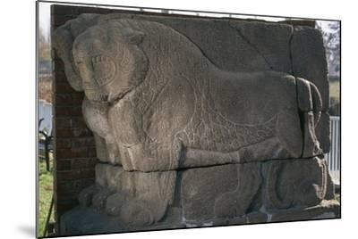 Bas-Relief with Lions from Kultepe (Kanesh)--Mounted Photographic Print