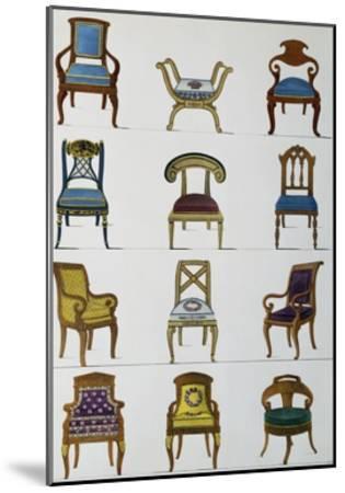 Armchairs--Mounted Giclee Print