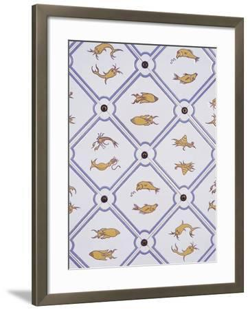 Bathroom Tiles with Marine Motifs--Framed Photographic Print